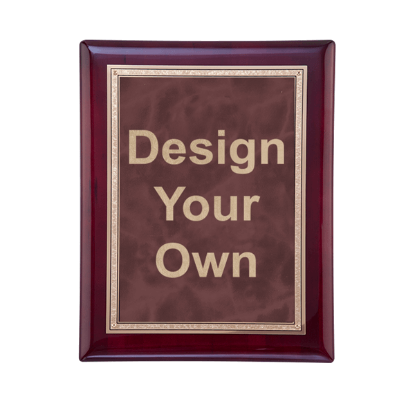 """Rosewood and Ruby 7"""" x 9"""" Wall Plaque"""