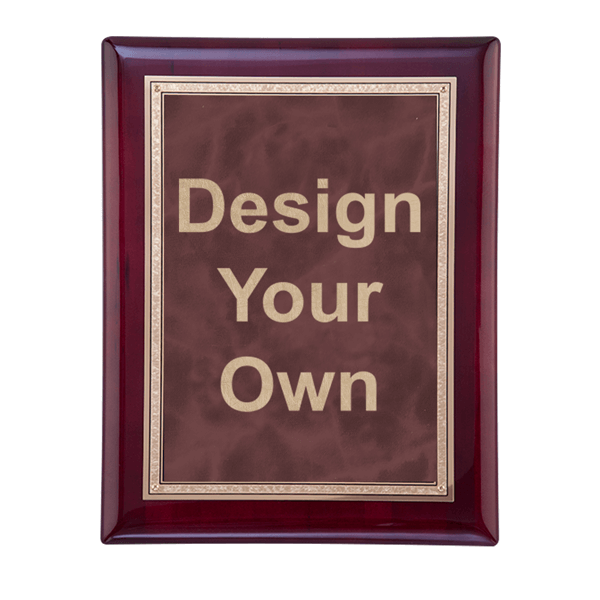 """Rosewood and Ruby 8"""" x 10"""" Wall Plaque"""