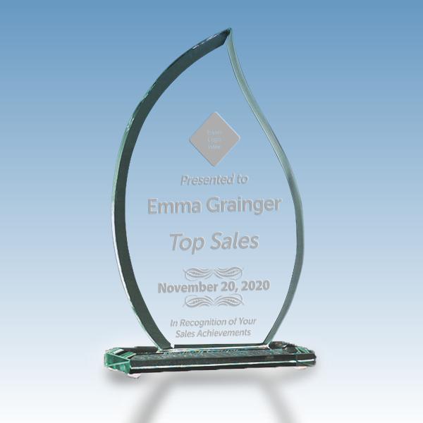 Sales Goal Flame Glass Award