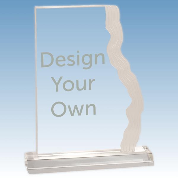 """Waterfall Acrylic Award 6 ¼"""" x 5 ½"""""""