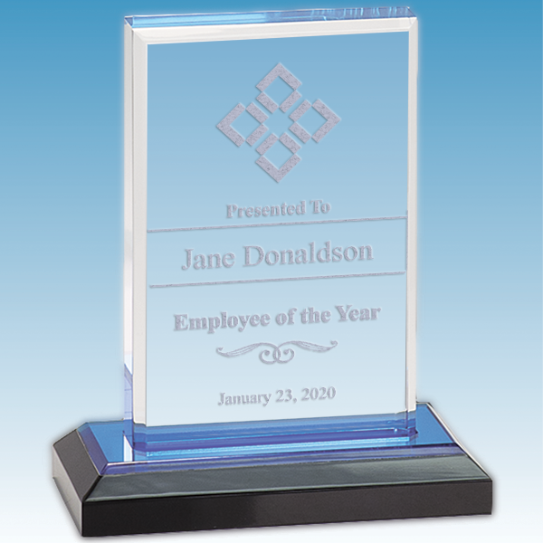 Employee of the Year Straight Bevel Acrylic Award