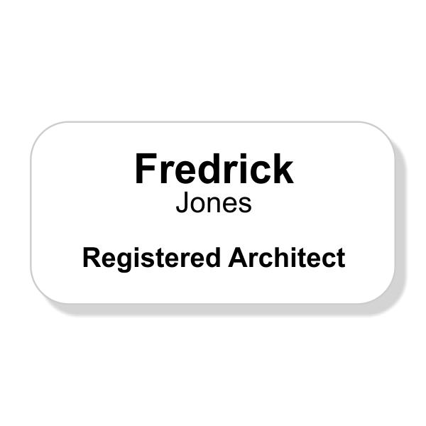 Engraved Registered Architect Name Tag