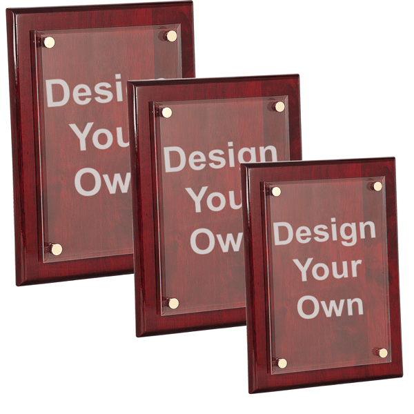 Rosewood Plaque with Floating Acrylic Engraved Plate