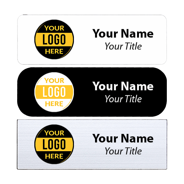"Full Color Custom Name Tag - 1"" x 3"""