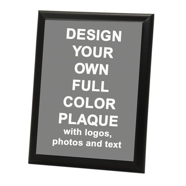 "Full Color 8"" x 10"" Photo Plaque with Black Edge"
