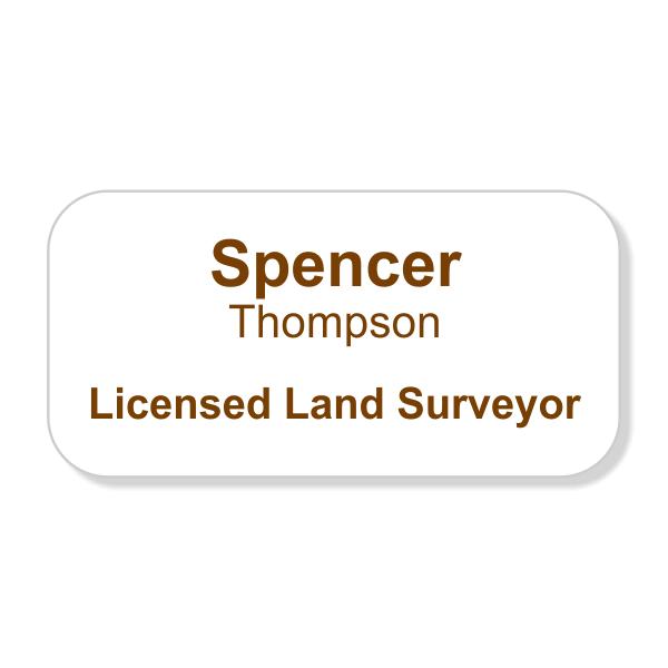 Full Color Licensed Land Surveyor Name Tag