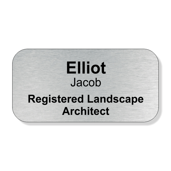Full Color Registered Landscape Architect Name Tag