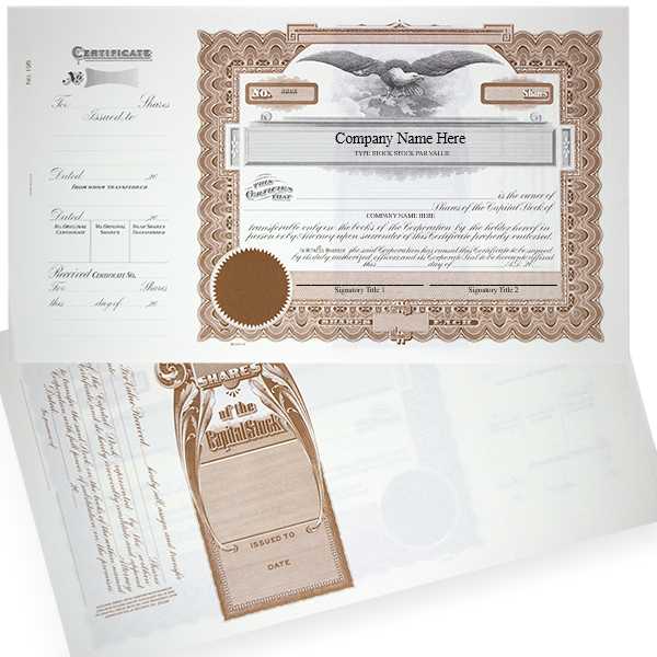 GOES 195 Corporate Stock Certificates   Quantity of 20 or More