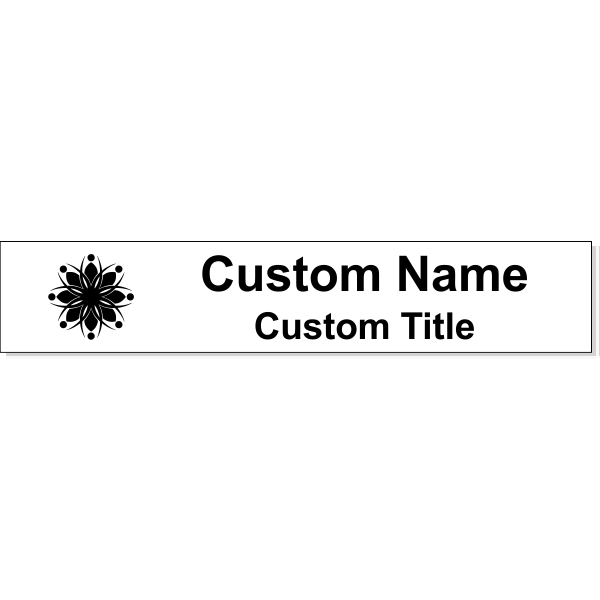 """Insert Only for 1.5"""" x 8"""" Wall Sign - Engraved"""
