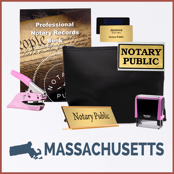 Massachusetts Pink Deluxe Notary Kit