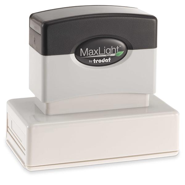 MaxLight Custom Pre-Inked Stamp - MAX-245Z -  Black Ink