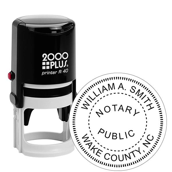 North Carolina Notary Round Stamp