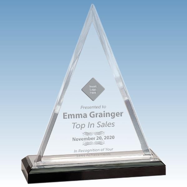 Sales Goal Beveled Triangle Acrylic Award