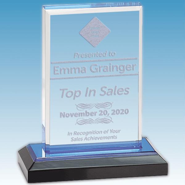 Sales Goal Straight Bevel Acrylic Award