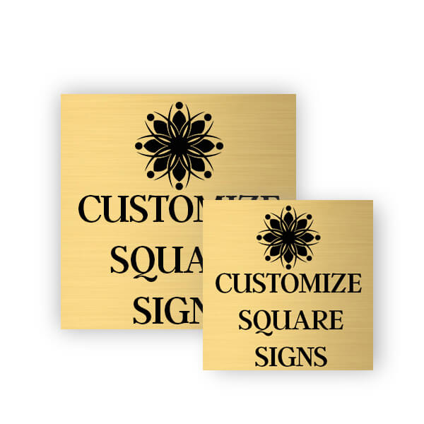 Square Engraved Heavy Brass Signs