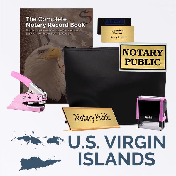 U.S. Virgin Islands Pink Deluxe Notary Kit
