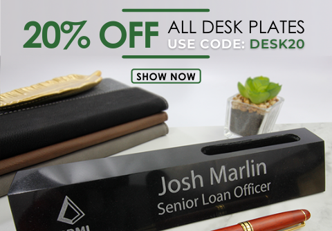 20% Off All Desk Plates