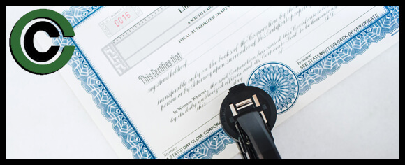 Custom Seal Embosser Use on a Stock Certificate